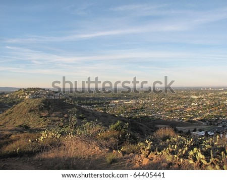View of Orange County, CA from the El Modena Open Space