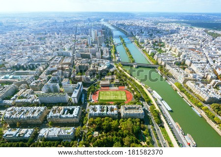 View of Paris from the Eiffel Tower, France