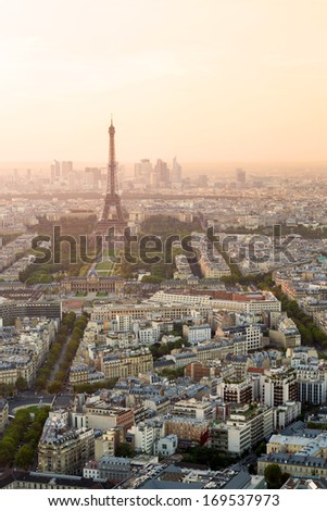 View of Paris from the Montparnasse Tower