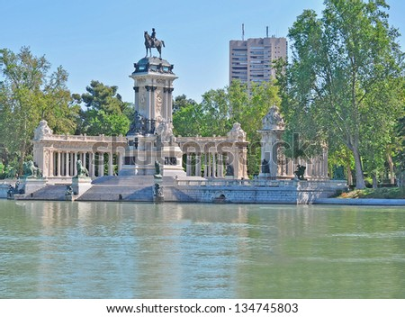 view of Parque del Retiro, Spain