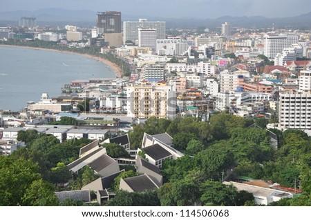 View of Pattaya, Thailand - stock photo