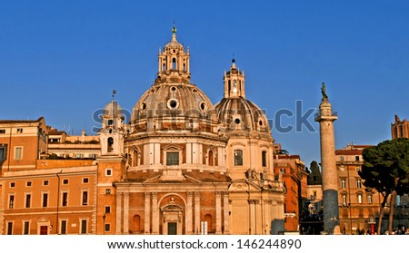 View of Piazza Venezia, Rome, Lazio, Italy - stock photo