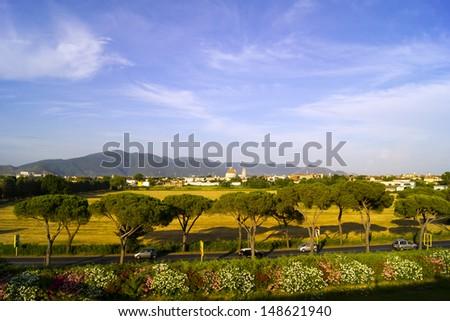 View of Pisa, Italy. - stock photo