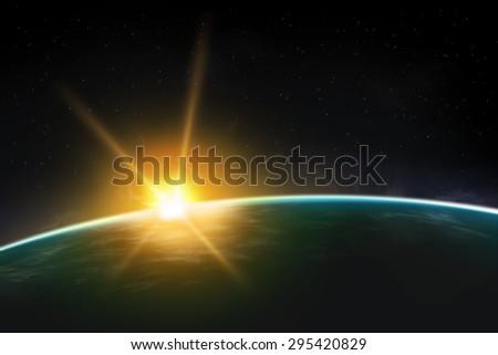 Beautiful Universe Realistic Illustration Planet Wallpaper