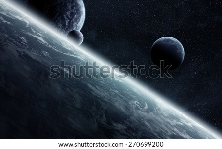 View of planets from space during a sunrise 'elements of this image furnished by NASA'