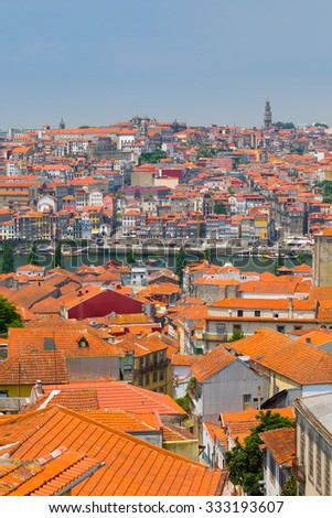 View of Porto in a sunny summer day