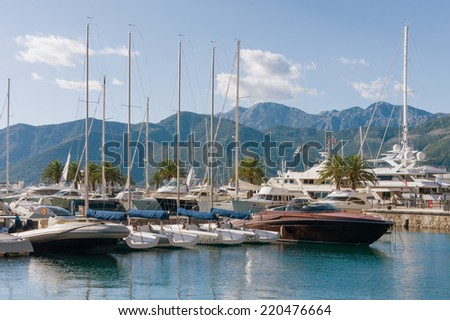View of Porto Montenegro. Tivat city, Montenegro