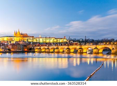 View of Prague Castle. Czech Republic. - stock photo