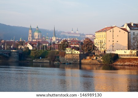 View of Prague, Czech Republic  - stock photo