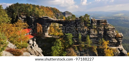 View of Pravcicka brana - the biggest natural gate in Europe.