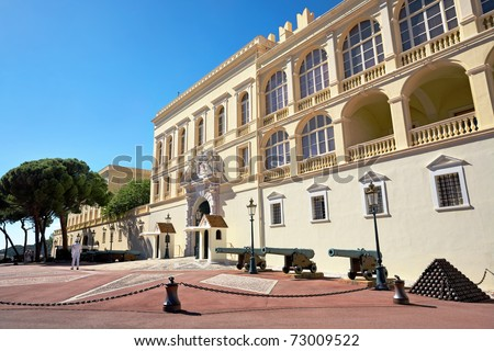View of Prince's Palace of Monaco. Residence of the King. - stock photo