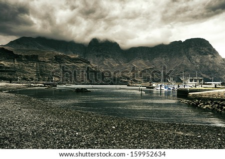 view of Puerto de las Nieves in Gran Canaria, Canary Islands, Spain - stock photo
