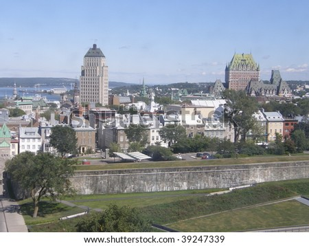 View of Quebec City in Canada - stock photo