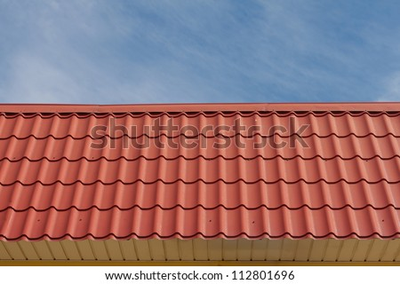 View of red roof tiles and sky on the background. & View Red Roof Tiles Sky On Stock Photo 112801696 - Shutterstock memphite.com