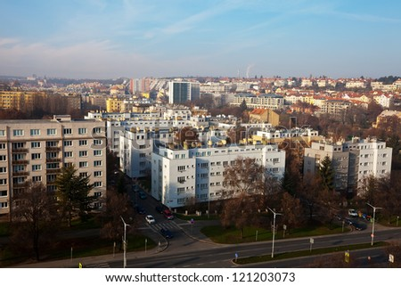 view of  residential district in Prague, Czechia
