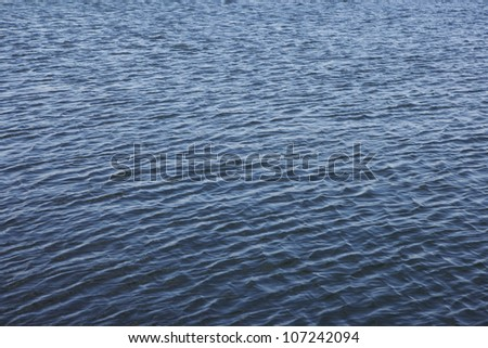 View of rippled sea surface
