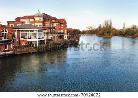 View of river Thames outside London - stock photo