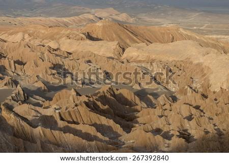 View of rocky landscape, Death Valley, San Pedro de Atacama, El Loa Province, Antofagasta Region, Chile - stock photo