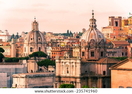 View of Rome, Italy - stock photo