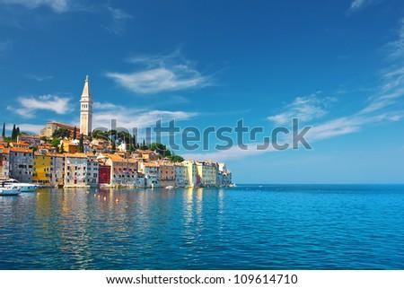 view of Rovinj, Croatia - stock photo