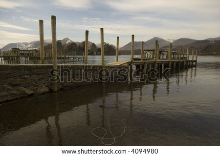 View of rowing boats on the lakeside of Derwent Water