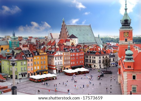 View of Royal Castle in Warsaw Poland - stock photo