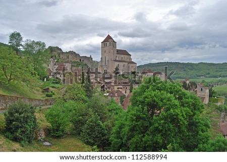 View of Saint Cirq Lapopie. France
