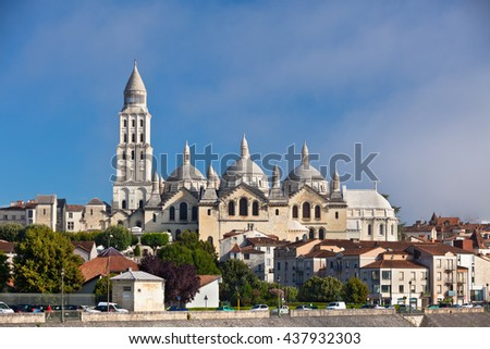View of Saint Front Cathedral in Perigord, France