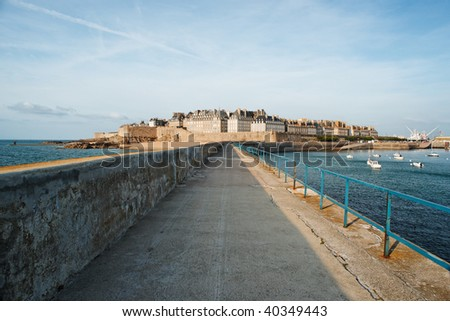 View of Saint Malo, France. - stock photo