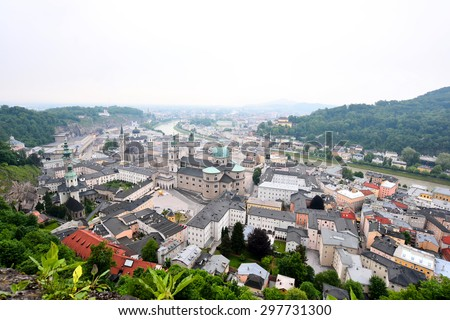 View of Salzburg City, Austria - stock photo