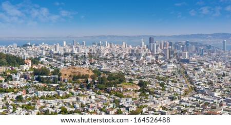 View of San Francisco in a sunny summer day - stock photo