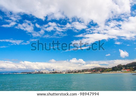 View of San Francisco with cloudy sky
