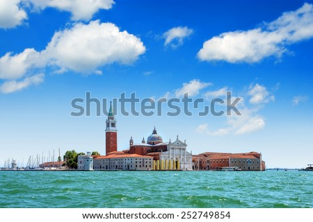 view of San Giorgio island, Venice, Italy - stock photo
