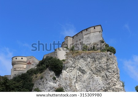 View of San Leo Fortress (Marche Italy)