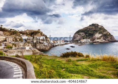 view of Sant Angelo in Ischia island in Italy