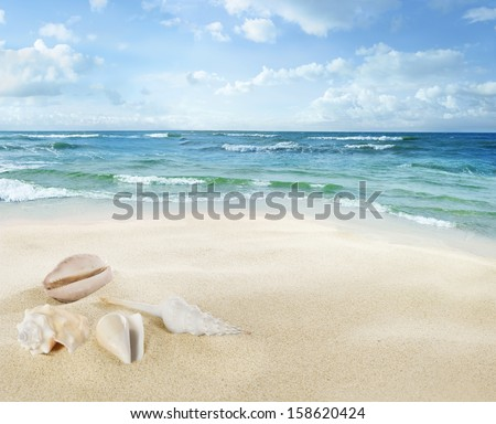 View of seascape - stock photo