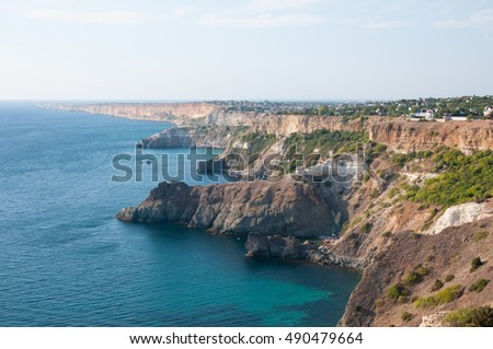 View of Sevastopol from Fiolent cape, southern Crimea, Russia