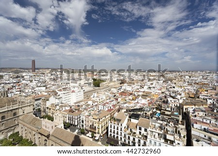 View of Seville, the capital and largest city of the autonomous community of Andalusia, Spain