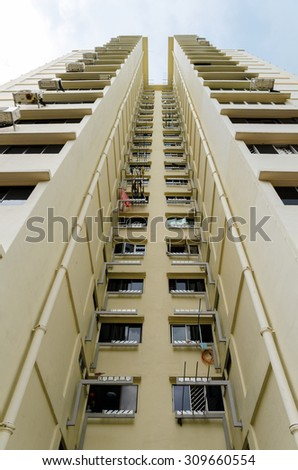 view of Singapore residential buildings - stock photo