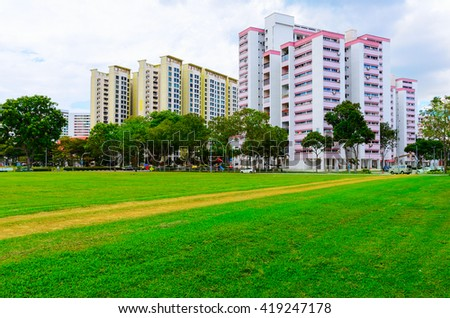 view of Singapore residential buildings
