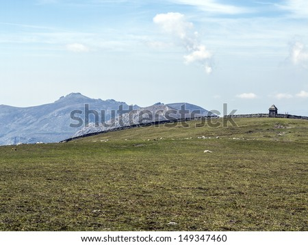 view of slieve binnian as seen from commedagh in ireland - stock photo