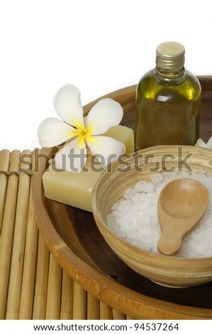 view of spa theme objects - stock photo