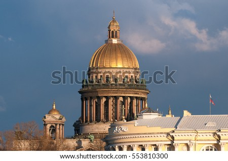 View of St. Isaac's Cathedral in St. Petersburg. Russia