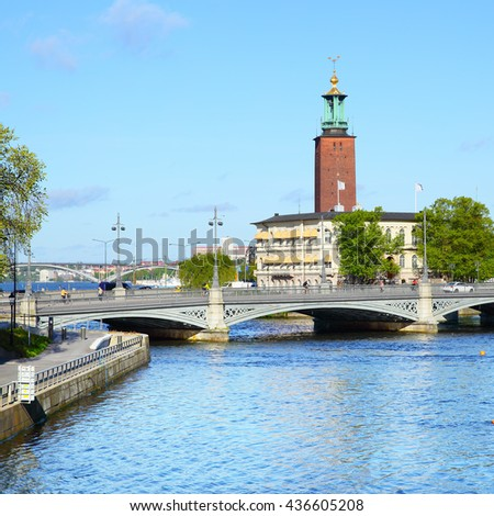 View of Stockholm, Sweden - stock photo