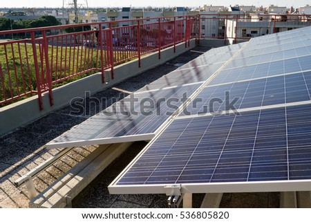 Aerial View Solar Panel Park Stock Photo 549529972