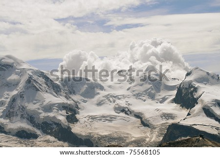 View of Swiss Alps