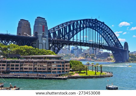 View of Sydney Harbor Bridge - stock photo
