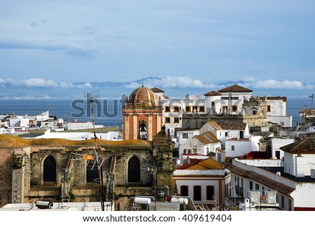 View of Tarifa - stock photo