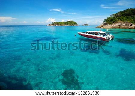 View of Thailand beach, Koh Similan, Andaman Sea - stock photo