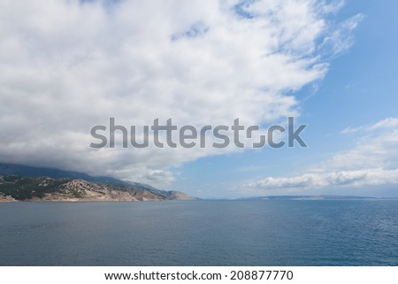 View of the Adriatic Sea in Croatia, islands in southern Europe